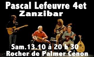 Zanzibar en concert le 13 octobre 2013 au Rocher de Palmer Cenon